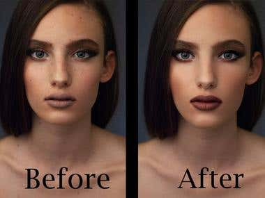 skin retouching project