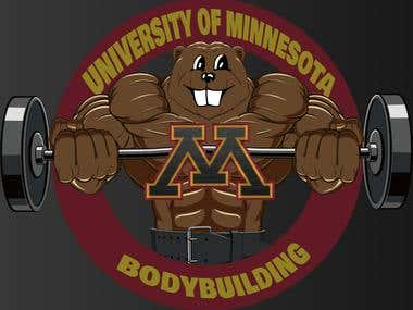 University of Minnesota Bodybuilding Logo