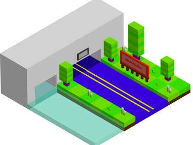 3d city illustration