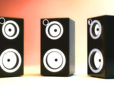 3D Product visualization : Speaker