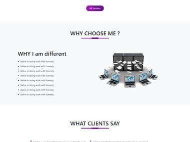 Fully Responsive Portfolio Site