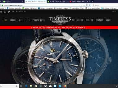 Luxury Watch Site via Woocommerce