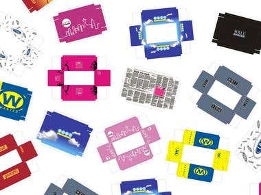 Packaging Design layout and final die keyline