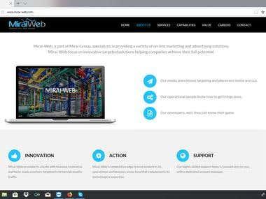 Mirai-Web Site (Bootstrap)