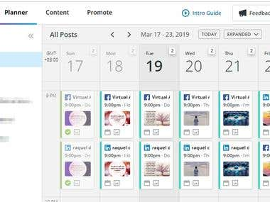 Scheduled Posts via Hootsuite
