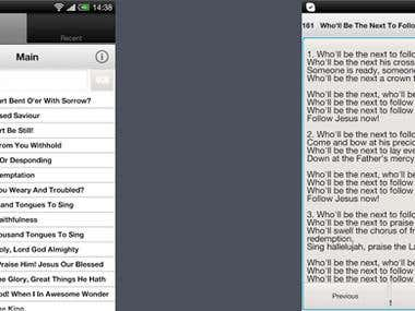 Android and iOS Hymnal e-Book