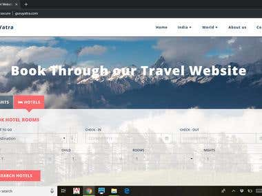 Travel Booking Website http://guruyatra.com/