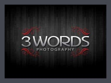 3 words logo