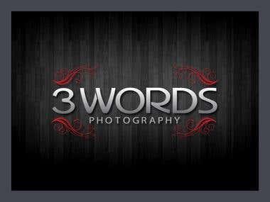 3 words logo