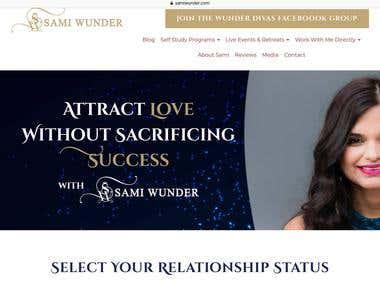 Sami Wunder Website