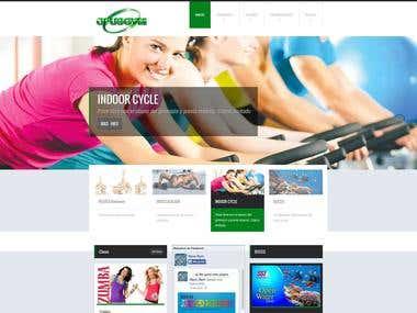 Web design www.opusgym.com.ar