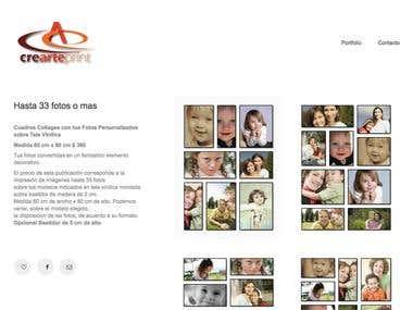 Web design www.crearteprint.com.ar