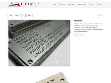Web design www.cutlaser.com.ar/