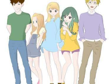 Anime MANGA Illustrations