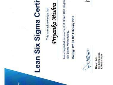 KPMG - Six Sigma Green Belt Certified