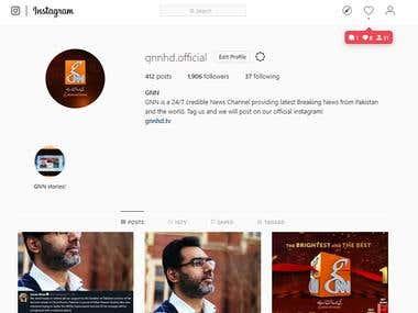 GNN Instagram page