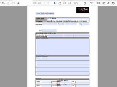 Designing of different advanced PDF forms.