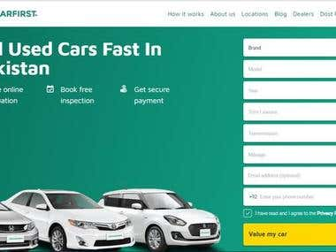 Sell and buy cars online website