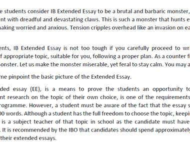 Article on Extended Essay