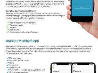 Membes Mobile App Flyer