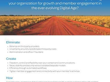 Business flyer for Membes SaaS platform