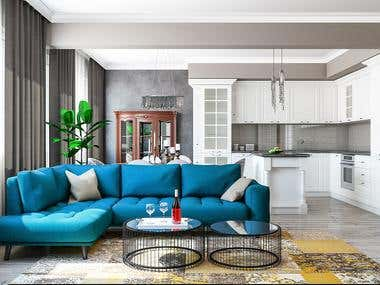 Interior Design Project - Two-Bedroom Apartment