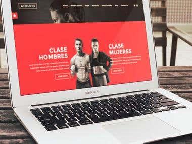 Website Professional Gym