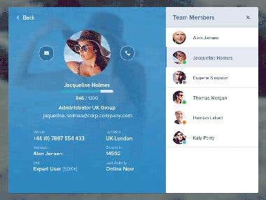 Team Messages App