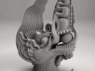 Vietnamese Dragon - 3d model and 3D printing