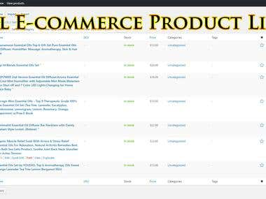All E-commerce Product Listing Expert