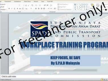 POWERPOINT FOR TRAINING PROGRAM