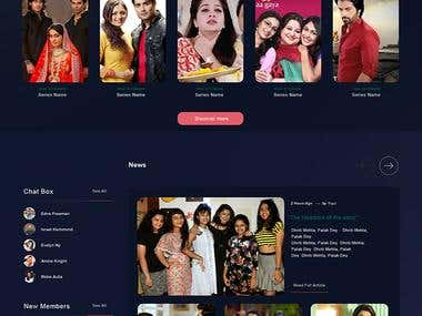 a hindi movies landing homepage