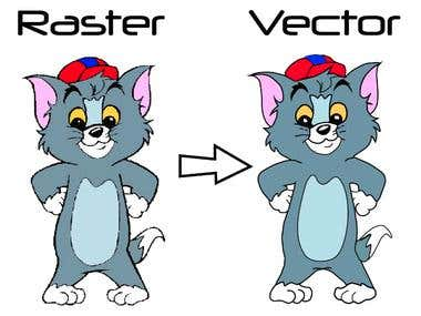 Create Vector Image form Raster Image.