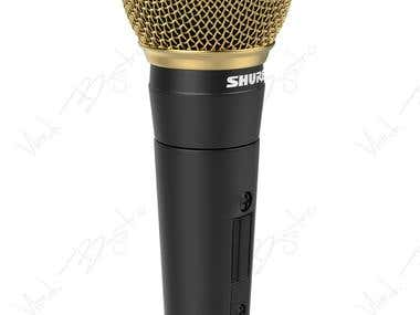 SHURE microphone 3D modeling