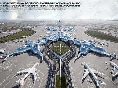Le nouveau terminal de l'aéroport Mohammed V Casablanca, MAR