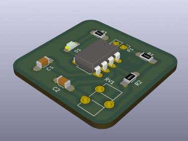 LM555 2 Layer Timer PCB Design and Layout