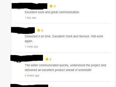 5 Star Rating from Clients