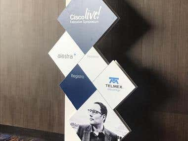 CiscoLive Signage for the event.