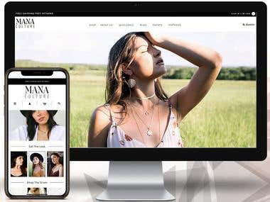 ManaCulture Shopify Website Development and Customisation