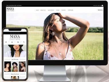 ManaCulture Shopify Website Development and Customisation
