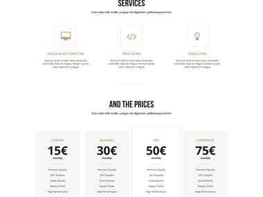 COMPANY Website Mockup | Trendy