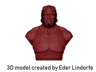 Hellboy a la Ron Perlman
