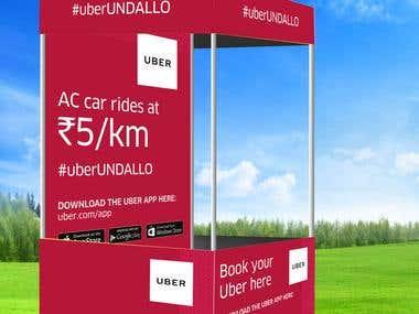 Kiosk for Uber
