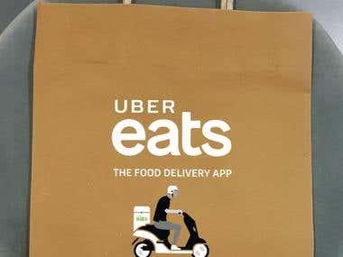 Design for Uber Paper Bags