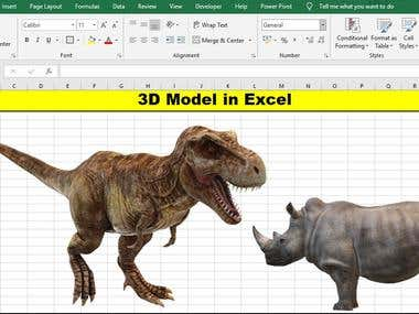 3D Model in Excel and more attractive dashboard