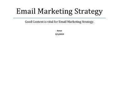 Good Content is vital for Email Marketing Strategy.