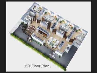 3D FLOOR PLAN - 360 RENDERING
