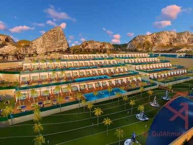 Hyatt Resort Design and 3d visualization