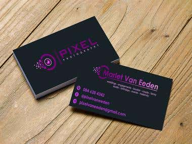 Pixel Photography Logo & Business Cards