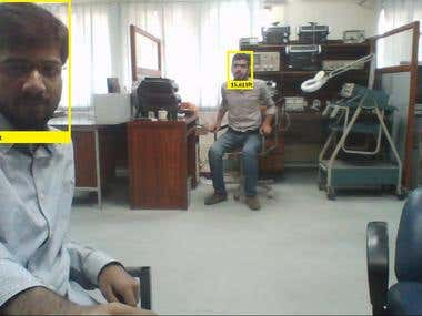 Face Detection and Measurement of Distance